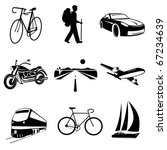 raster icons of transport | Shutterstock . vector #67234639
