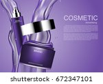 cosmetic cream and sparkler... | Shutterstock .eps vector #672347101