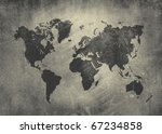 Matte Vintage World Map...