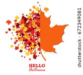 autumn greeting card with... | Shutterstock .eps vector #672349081