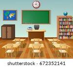 vector illustration of school... | Shutterstock .eps vector #672352141