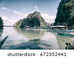 in  philippines  view from a... | Shutterstock . vector #672352441