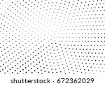 abstract halftone dotted... | Shutterstock .eps vector #672362029