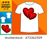 template t shirt with an trendy ... | Shutterstock .eps vector #672362509