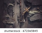 coal mining from above | Shutterstock . vector #672365845