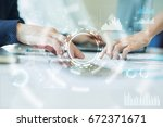 internet  business and... | Shutterstock . vector #672371671