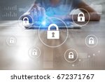 cyber security  data protection ... | Shutterstock . vector #672371767