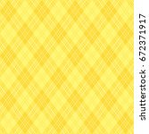 background of yellow argyle... | Shutterstock .eps vector #672371917