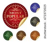 most popular. | Shutterstock .eps vector #672372025