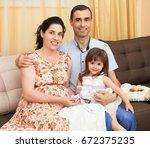happy family with children...   Shutterstock . vector #672375235
