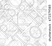font seamless pattern on a... | Shutterstock . vector #672379585