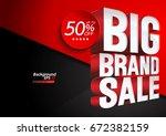 big brand sale illustration... | Shutterstock .eps vector #672382159
