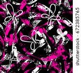 abstract seamless grunge urban... | Shutterstock .eps vector #672385765