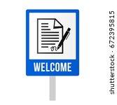 enroll in a driving school | Shutterstock .eps vector #672395815