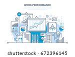 work performance  quality... | Shutterstock .eps vector #672396145