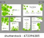 creative business card ... | Shutterstock .eps vector #672396385