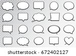 blank empty speech bubbles.... | Shutterstock .eps vector #672402127