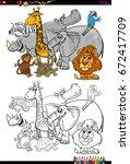 cartoon vector illustration of... | Shutterstock .eps vector #672417709