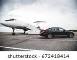 business class service at the... | Shutterstock . vector #672418414