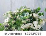 floral arrangement with...   Shutterstock . vector #672424789