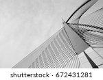 modern bridge architecture.  | Shutterstock . vector #672431281