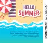 hello summer concept vector... | Shutterstock .eps vector #672433027