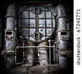 massive metal construction an... | Shutterstock . vector #67243771