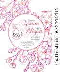 invitation bridal shower card...   Shutterstock .eps vector #672441415