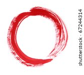 red circle brush paint list... | Shutterstock . vector #67244314