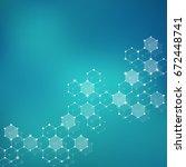molecular structure  genetic... | Shutterstock . vector #672448741