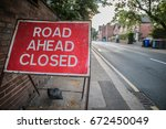 Small photo of Road ahead closed