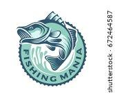 bass fish logo template | Shutterstock .eps vector #672464587
