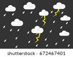 rain and cloud season in vector ... | Shutterstock .eps vector #672467401