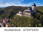 royal castle karlstejn.... | Shutterstock . vector #672471451