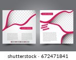 square flyer template. brochure ... | Shutterstock .eps vector #672471841