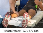 athlete's calf muscle... | Shutterstock . vector #672472135