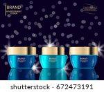 glamorous face beauty care... | Shutterstock .eps vector #672473191