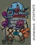 robot football player | Shutterstock .eps vector #672474475
