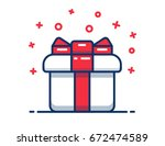 gift box icon  special present...   Shutterstock .eps vector #672474589
