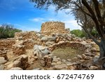 archaeological site of la... | Shutterstock . vector #672474769