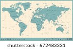 world map vector vintage. high... | Shutterstock .eps vector #672483331