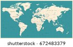 world map vintage vector. high... | Shutterstock .eps vector #672483379