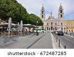 mafra  portugal   june 01  2017 ... | Shutterstock . vector #672487285