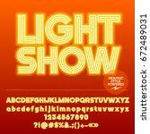 Neon Bright Set Of Alphabet...