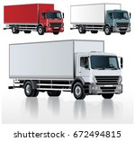 vector realistic truck template ... | Shutterstock .eps vector #672494815