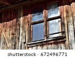 old wooden window    Shutterstock . vector #672496771