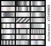 silver  steel  chrome gradients ...   Shutterstock .eps vector #672498805
