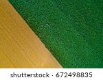 top view of fertile land with... | Shutterstock . vector #672498835