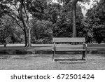 public  wooden  chair  tone ... | Shutterstock . vector #672501424
