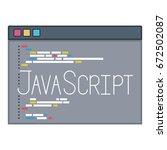 color silhouette of programming ... | Shutterstock .eps vector #672502087